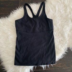 Black lululemon workout tank Lulu mesh workout top